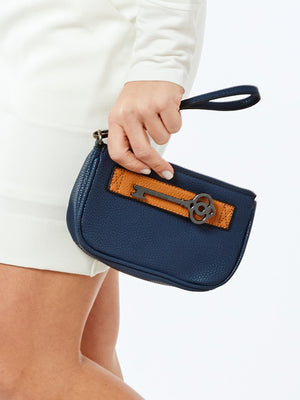 KEYSTONE CLUTCH- DENIM