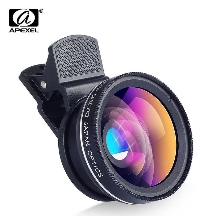 APEXEL Phone Lens kit 0.45x Super Wide Angle for iPhone 6S 7 Xiaomi & more