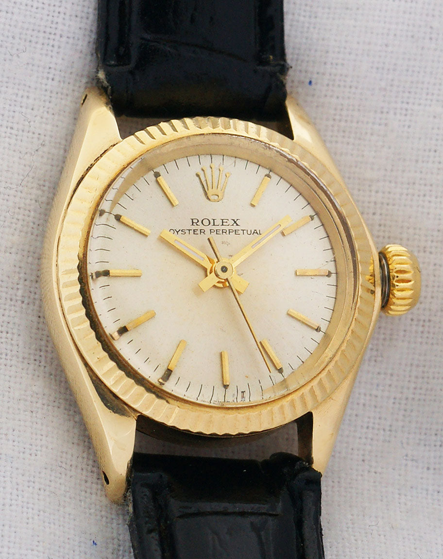 Rolex Non-Date 14k Yellow Gold Ladies Automatic Watch 6619