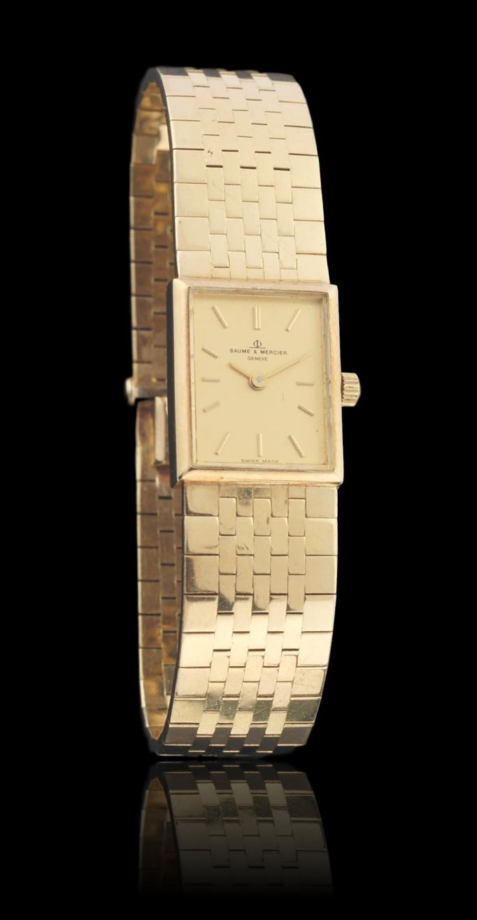 Baume & Mercier 14k Yellow Gold Ladies Tank Watch