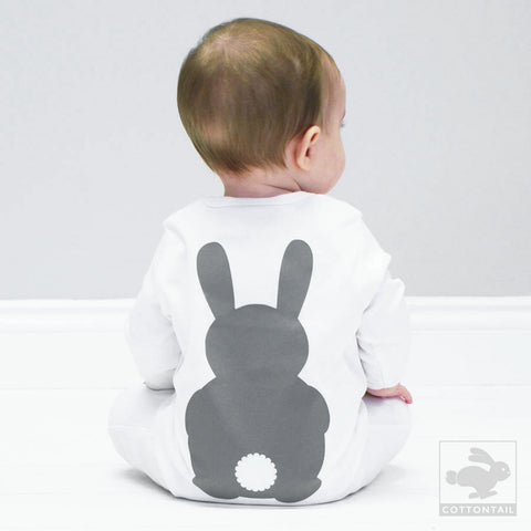 BOBBY - footless bunny baby grow