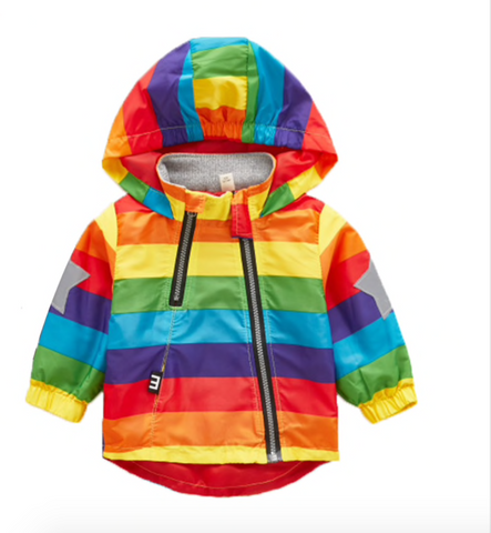Ronnie - Unisex Rainbow showerproof coat
