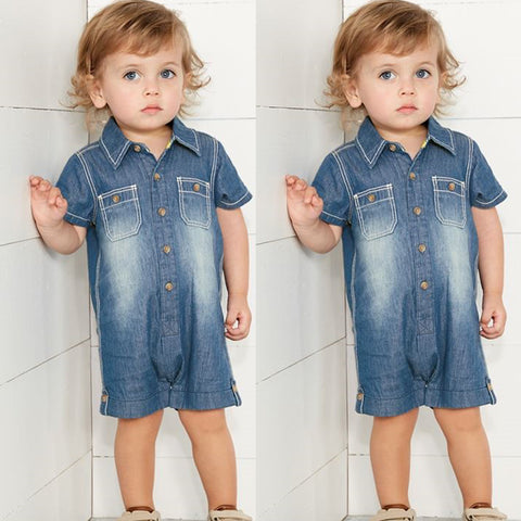 JACK - Denim shirt romper