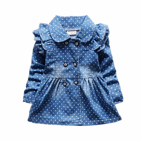 Betsy - Spotty Denim Style Jacket