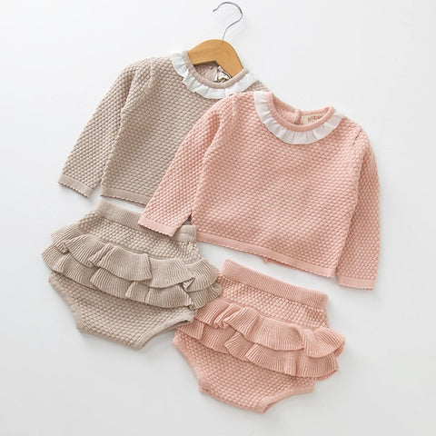 Spanish Style Baby Frilly Pants Outfit