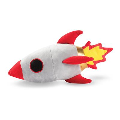Rocket Ship Plush Pet Toy
