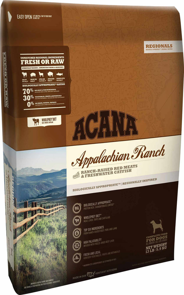 Acana Appalachian Ranch Dog Food - Rocky & Maggie's Pet Boutique and Salon