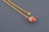 Pink Egg Pendant Necklace