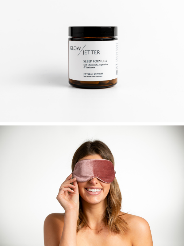 Jet Lag Sleep Formula +  Sleep Mask Bundle Mulberry ($74 Value)