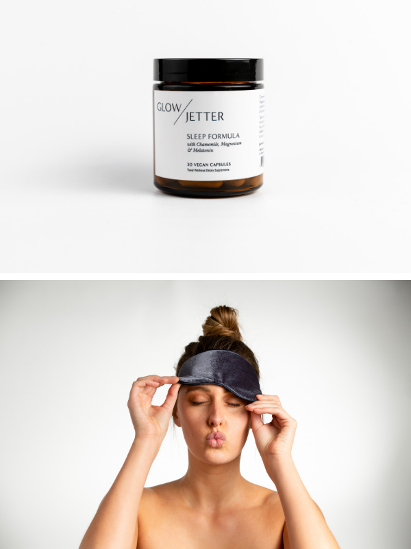 Jet Lag Sleep Formula + Sleep Mask Bundle Slate   ($74 Value)