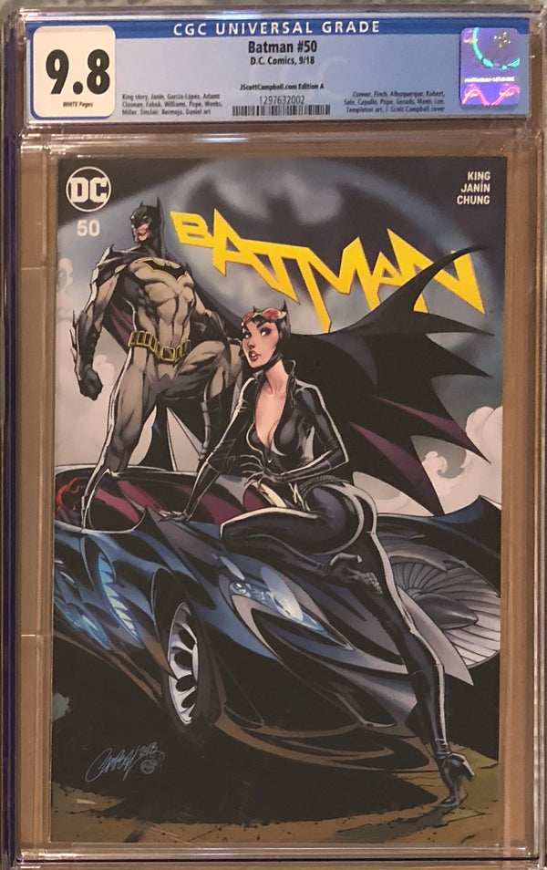 Batman #50 J. Scott Campbell Edition A-E Exclusive Set CGC 9.8