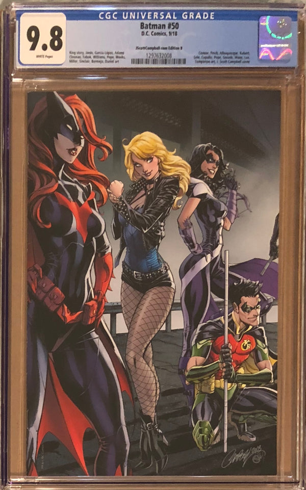 Batman #50 J. Scott Campbell Edition B Black Canary, Huntress, and Batwoman Exclusive CGC 9.8