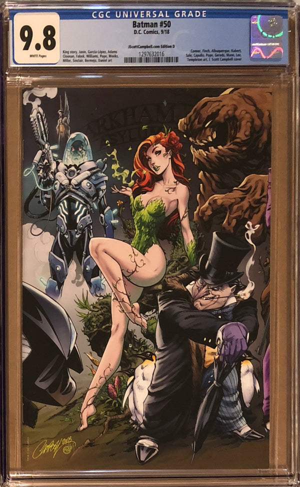 Batman #50 J. Scott Campbell Edition D Poison Ivy and Penguin Exclusive CGC 9.8