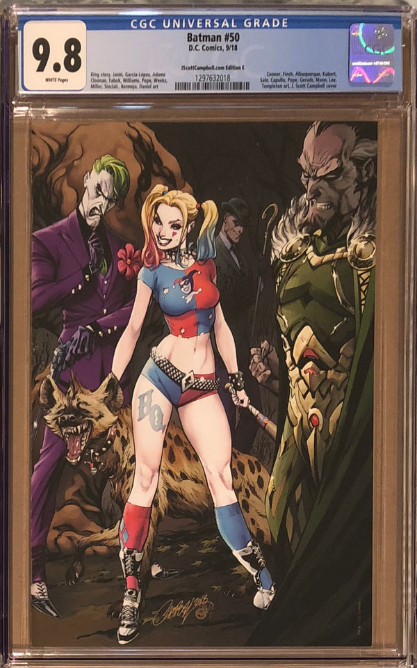 Batman #50 J. Scott Campbell Edition E Harley Quinn and Joker Exclusive CGC 9.8