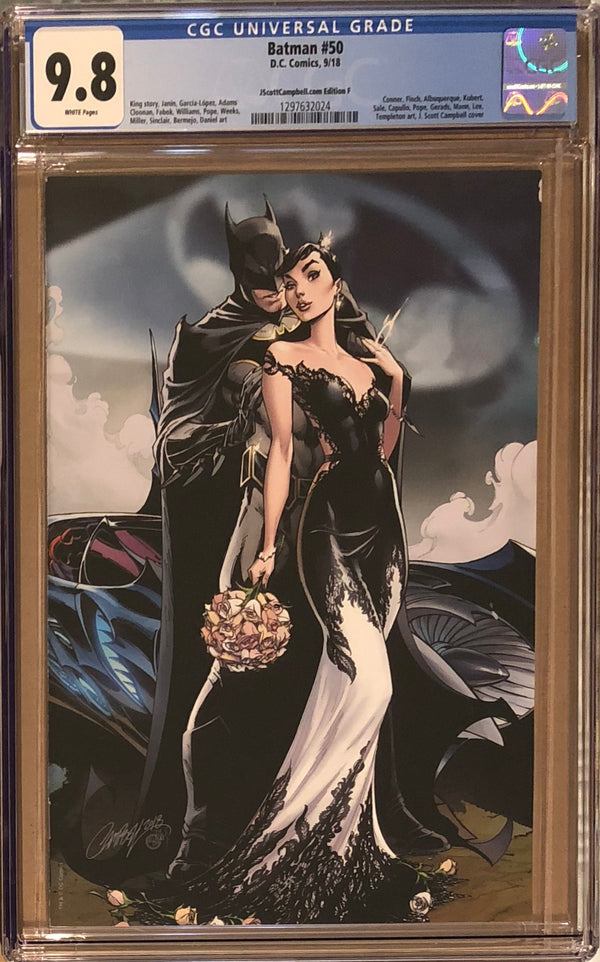 "Batman #50 J. Scott Campbell Edition F SDCC Virgin ""Wedding"" Exclusive CGC 9.8"