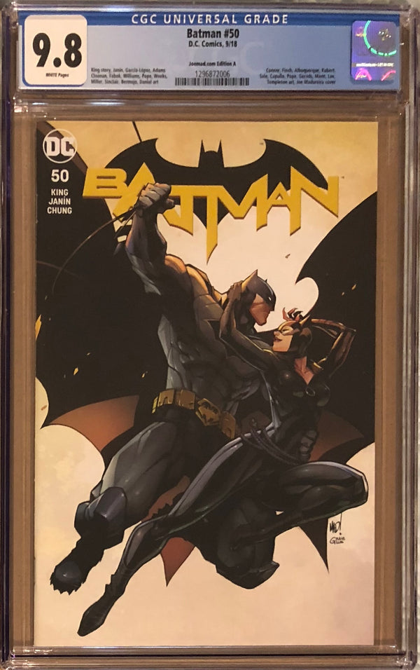 Batman #50 Joe Madureira Edition Cover A CGC 9.8 - Batman and Catwoman