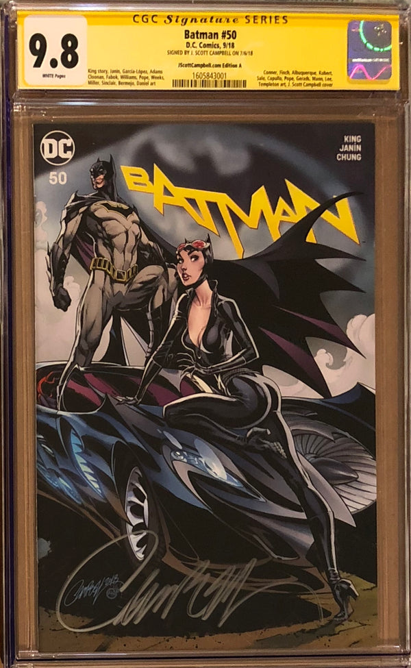 Batman #50 J. Scott Campbell Edition A-E Exclusive Set CGC 9.8 SS