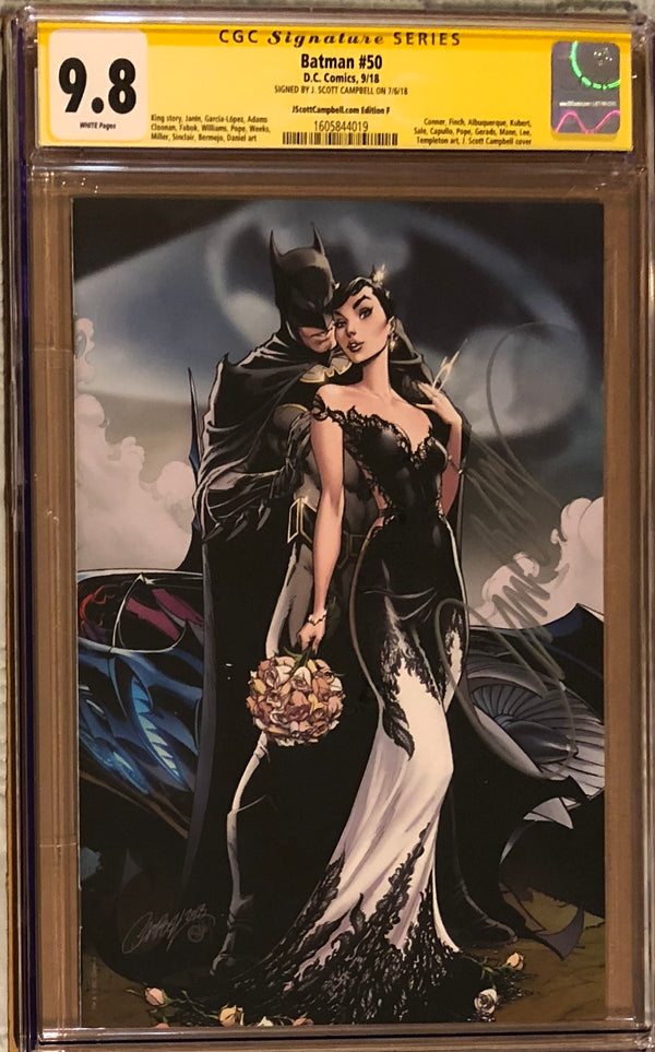 "Batman #50 J. Scott Campbell Edition F SDCC Virgin ""Wedding"" Exclusive CGC 9.8 SS"