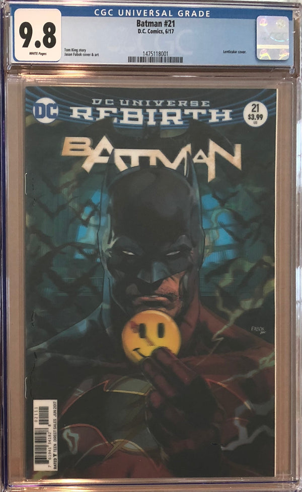 Batman #21 Lenticular Cover CGC 9.8