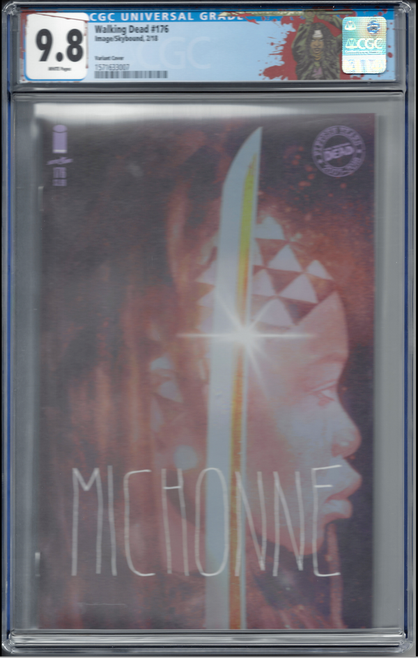 "The Walking Dead #176 ""Michonne"" Sienkiewicz Variant with ""Michonne"" Custom Label CGC 9.8"