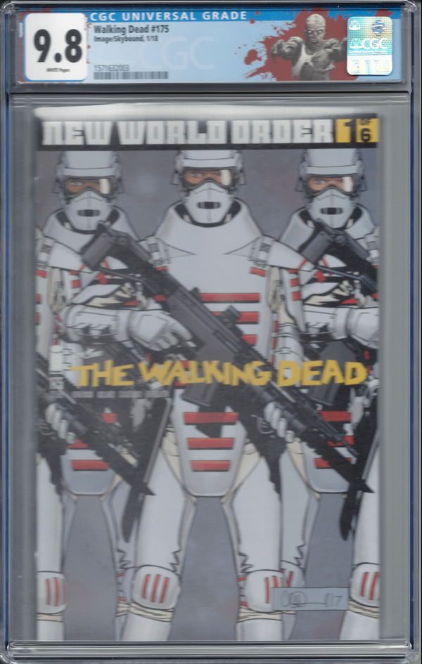 "The Walking Dead #175 with ""Walker"" Custom Label CGC 9.8"