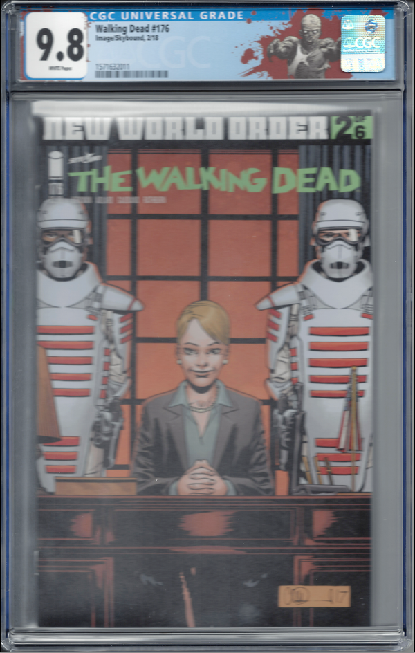 "The Walking Dead #176 with ""Walker"" Custom Label CGC 9.8 - First Governor Milton!"