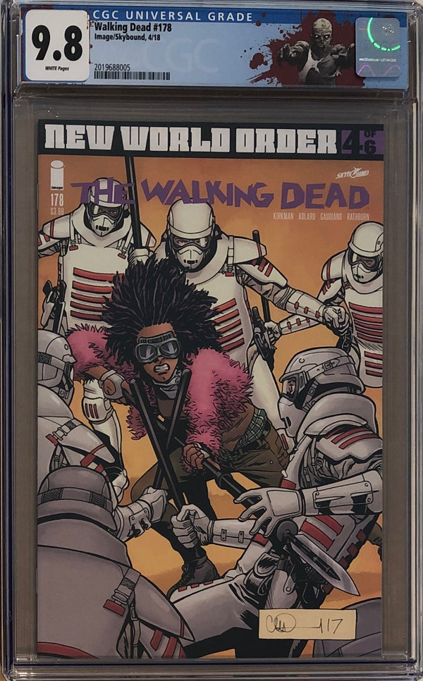 "The Walking Dead #178 CGC 9.8 with ""Walker"" Custom Label"