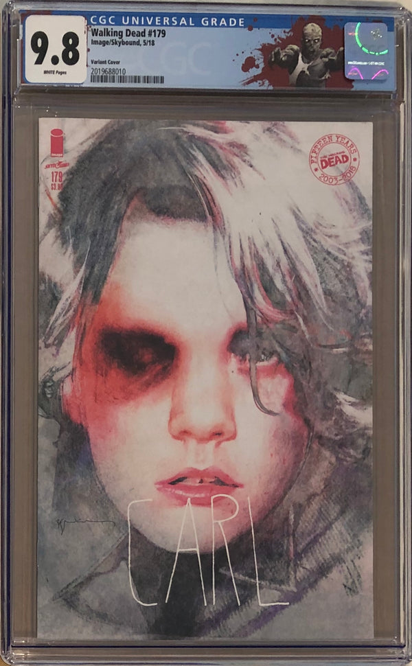 "The Walking Dead #179 Carl Variant CGC 9.8 with ""Walker"" Custom Label"