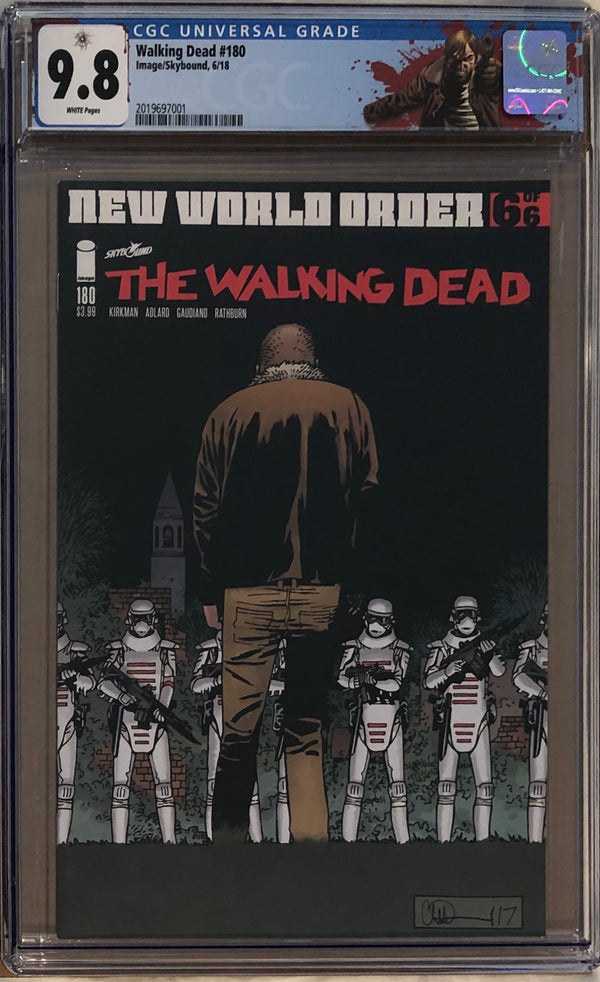 "The Walking Dead #180 CGC 9.8 with ""Rick"" Custom Label"
