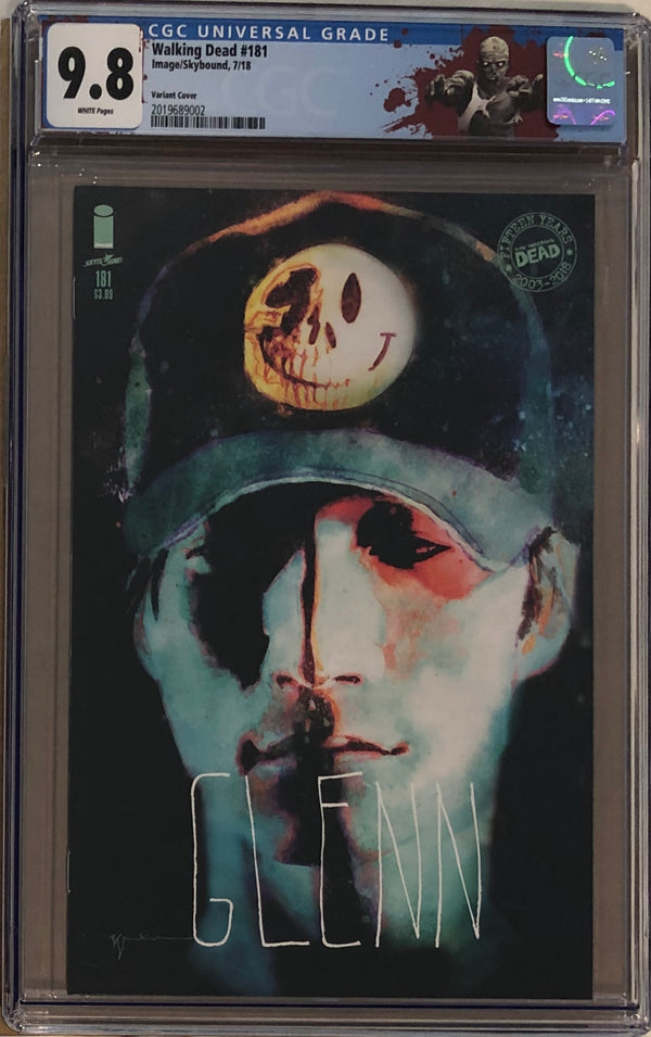 "The Walking Dead #181 Glenn Variant CGC 9.8 with ""Walker"" Custom Label"