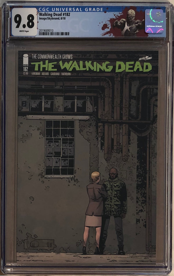 "The Walking Dead #182 CGC 9.8 with ""Walker"" Custom Label"