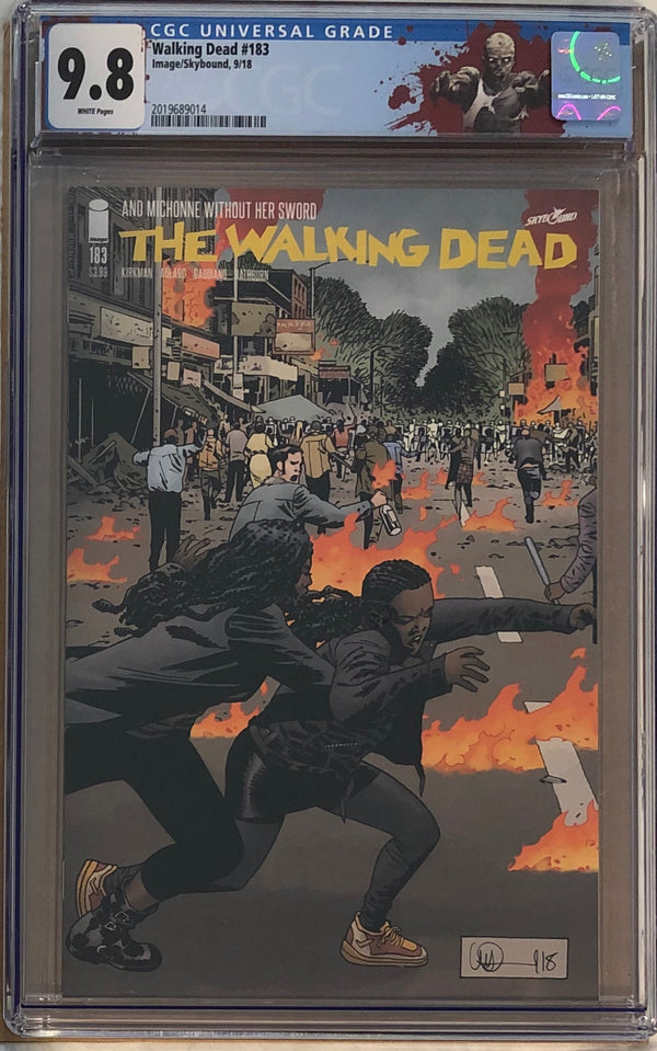 "The Walking Dead #183 CGC 9.8 with ""Walker"" Custom Label"