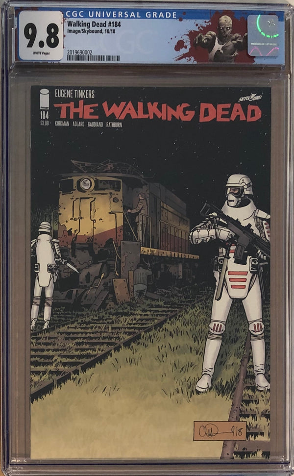 "The Walking Dead #184 CGC 9.8 with ""Walker"" Custom Label"