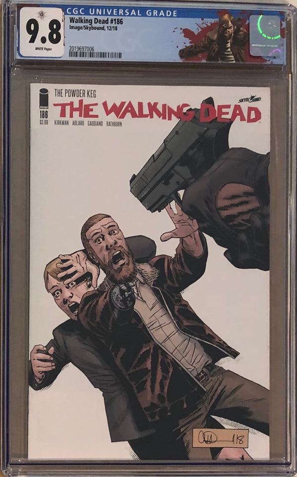 "The Walking Dead #186 CGC 9.8 with ""Rick"" Custom Label"