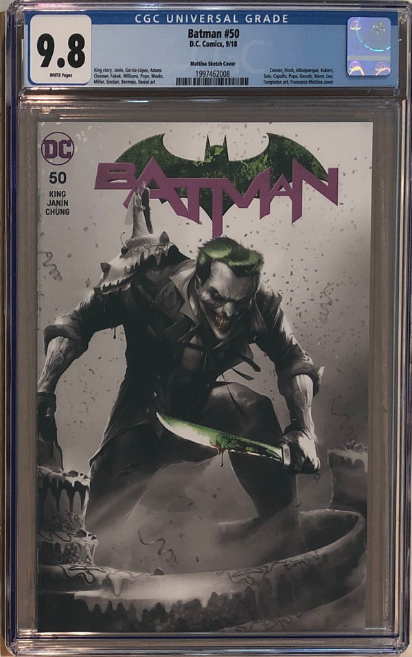Batman #50 Francesco Mattina Sketch Variant CGC 9.8
