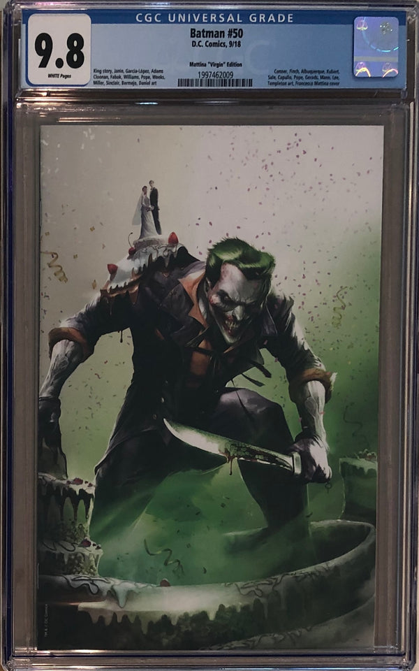 Batman #50 Francesco Mattina Virgin Variant CGC 9.8