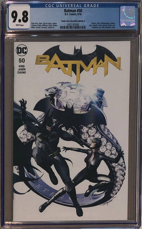Batman #50 Comic Pop Collectibles Edition B Mike Mayhew Variant CGC 9.8