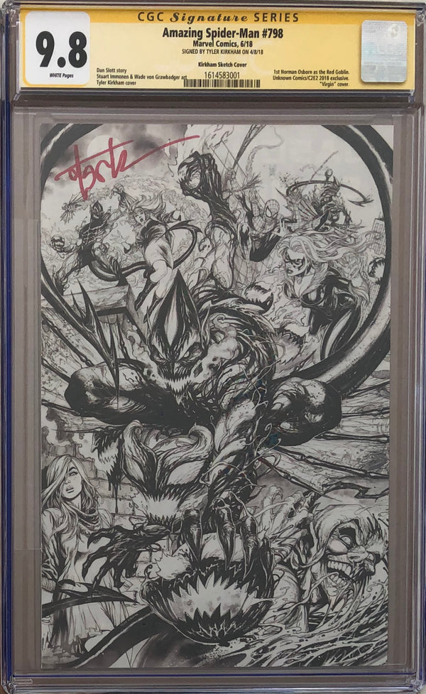 Amazing Spider-Man #798 Tyler Kirkham Sketch C2E2 Exclusive CGC 9.8 SS First appearance of the Red Goblin!