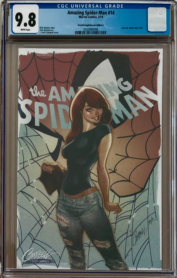 "Amazing Spider-Man #14 J. Scott Campbell Edition I ""Face it Tiger"" MJ SDCC Exclusive CGC 9.8"
