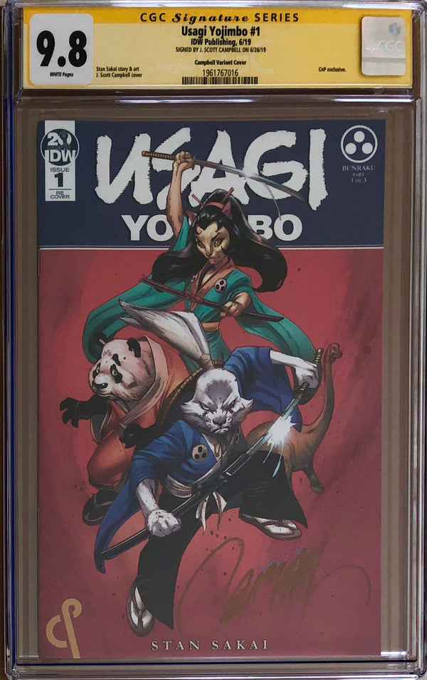 Usagi Yojimbo #1 J. Scott Campbell Exclusive CGC 9.8 SS
