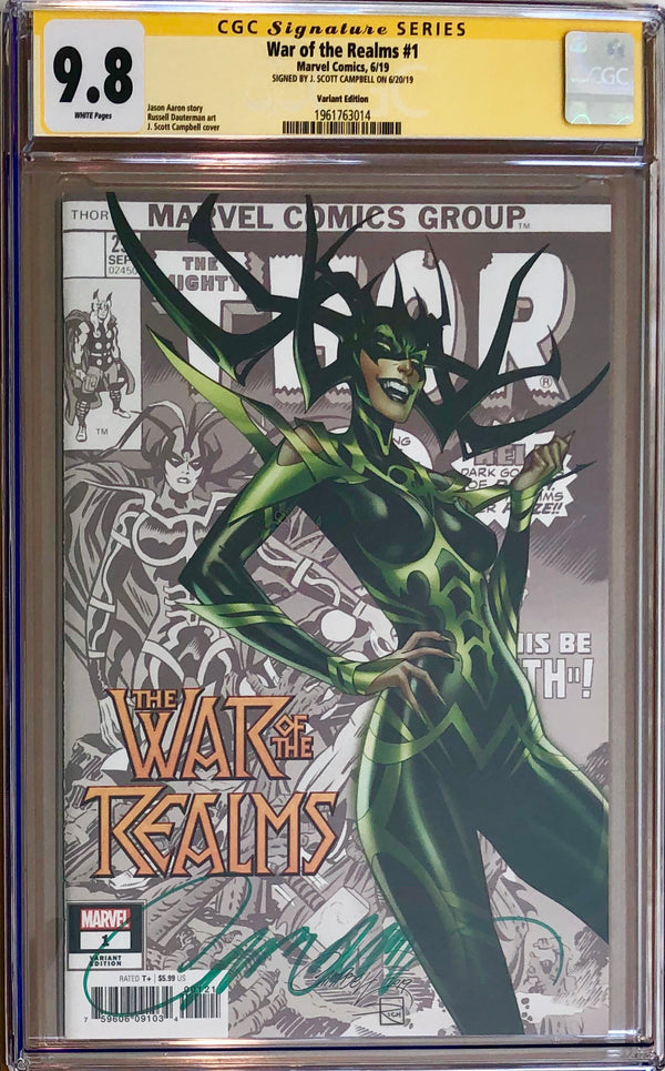 War of the Realms #1 J. Scott Campbell Variant CGC 9.8 SS
