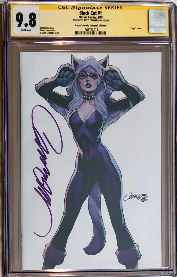 Black Cat #1 J. Scott Campbell Frankie's Comics Virgin Exclusive CGC 9.8 SS
