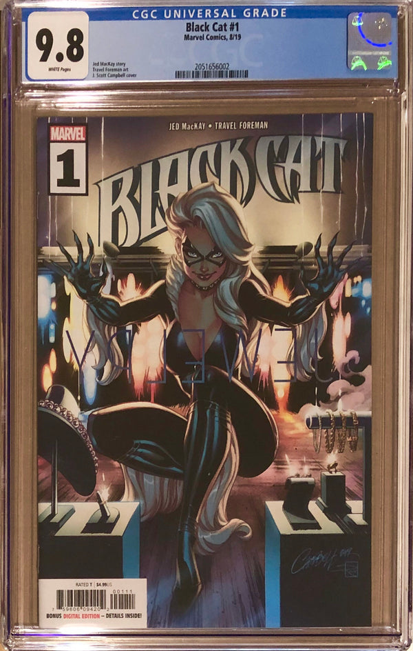 Black Cat #1 J. Scott Campbell CGC 9.8