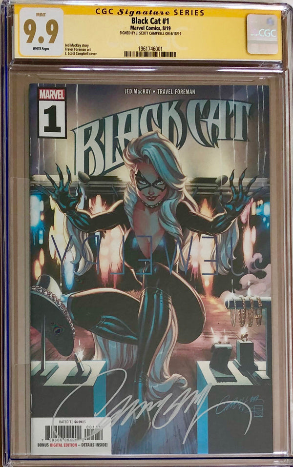 Black Cat #1 J. Scott Campbell CGC 9.9 SS