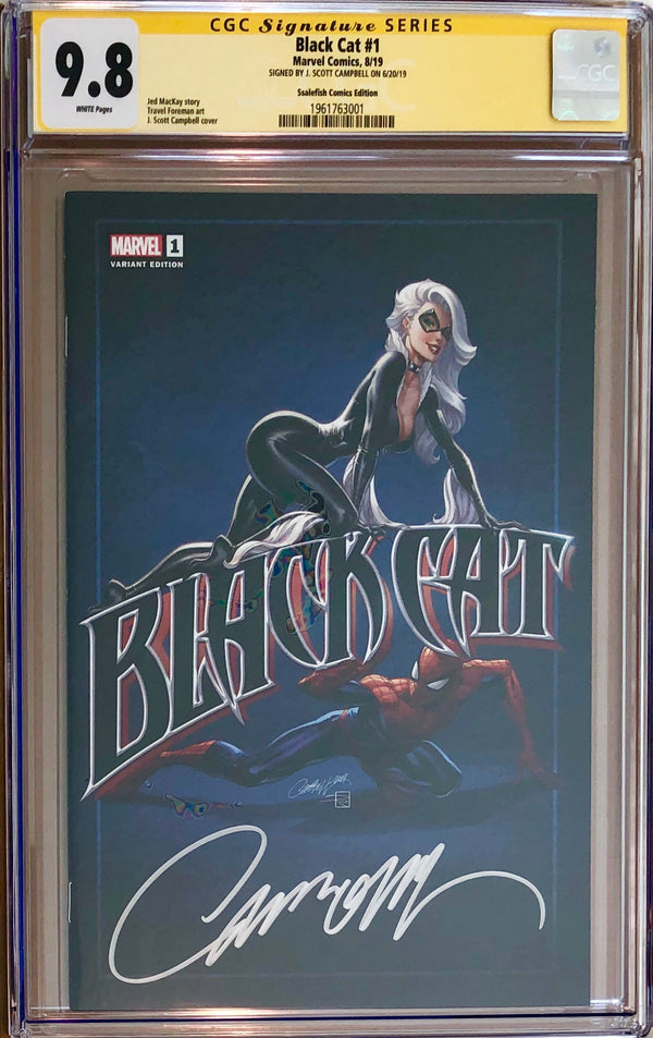 Black Cat #1 J. Scott Campbell Ssalefish Exclusive CGC 9.8 SS