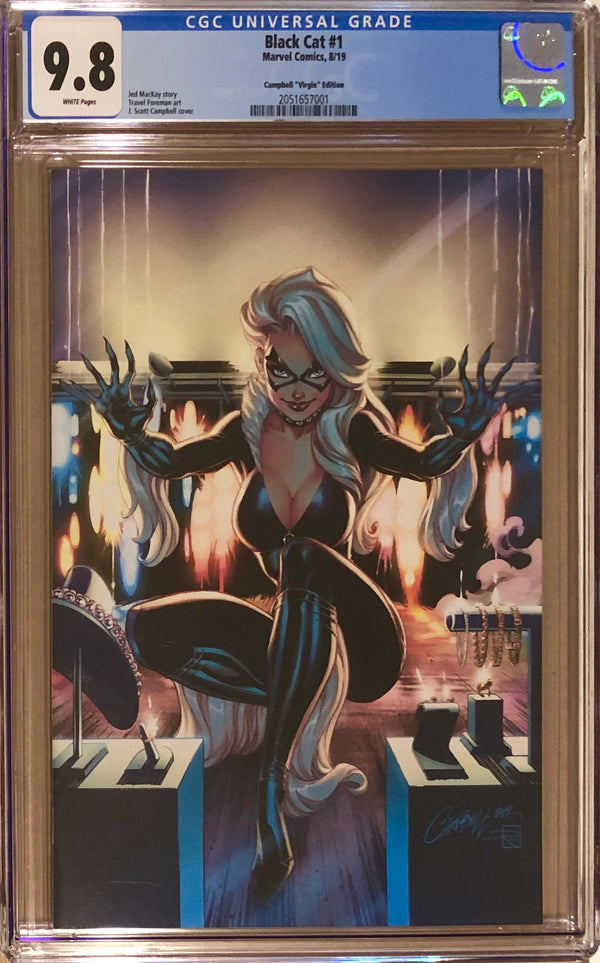 Black Cat #1 J. Scott Campbell 1:500 Virgin Retailer Incentive Variant CGC 9.8