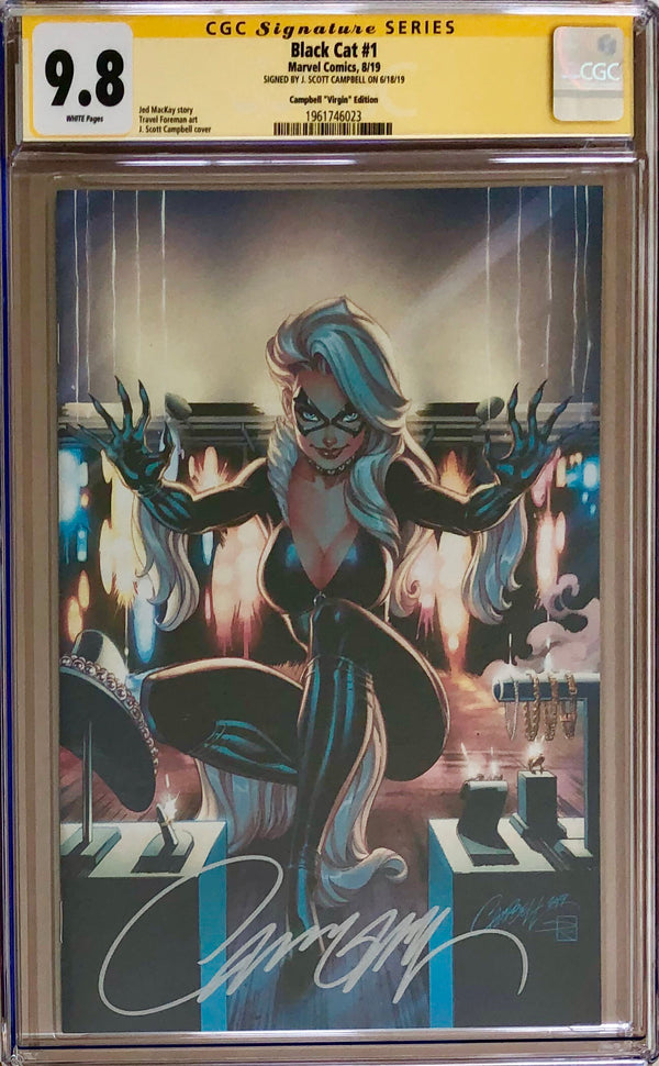 Black Cat #1 J. Scott Campbell 1:500 Virgin Retailer Incentive Variant CGC 9.8 SS