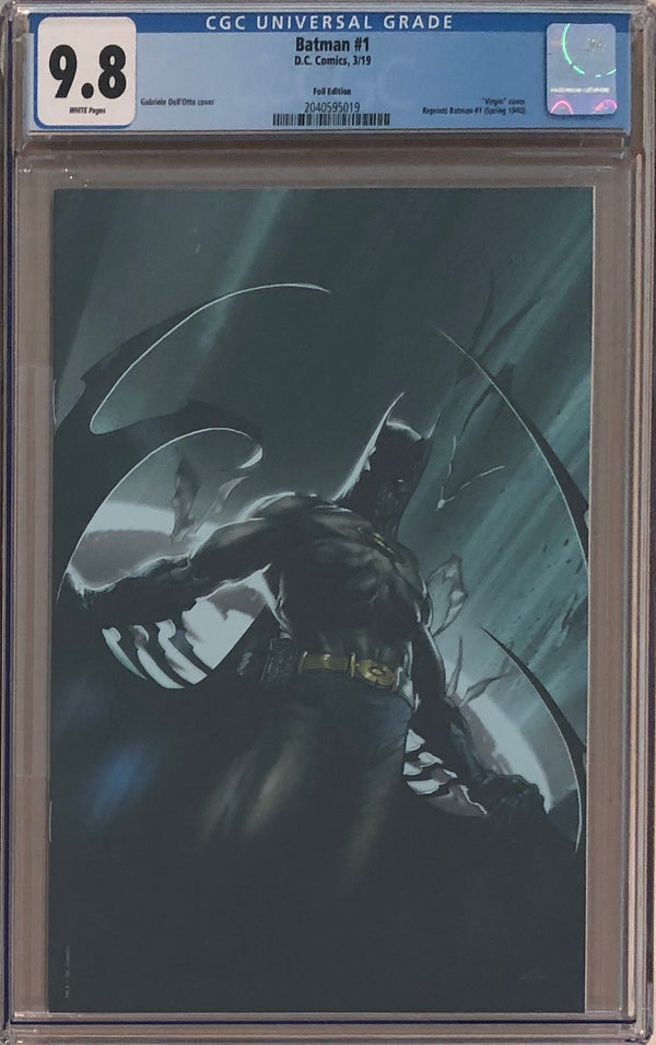 Batman #1 Black Foil Dell'Otto Exclusive CGC 9.8