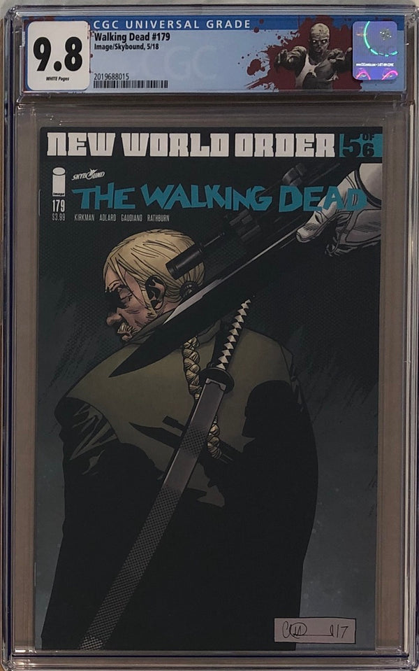 "The Walking Dead #179 CGC 9.8 with ""Walker"" Custom Label"