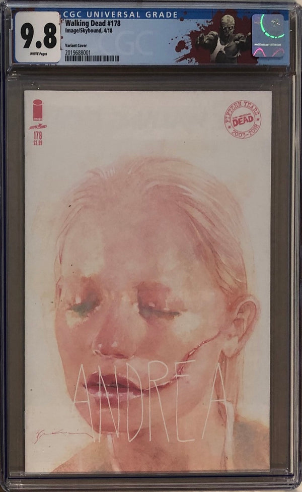 "The Walking Dead #178 Andrea Variant CGC 9.8 with ""Walker"" Custom Label"